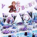 Disney «Холодное сердце» 2 мультяшную тему вечерние набор одноразовой посуды Бумага чашки пластин для День рождения вечерние украшения постав...