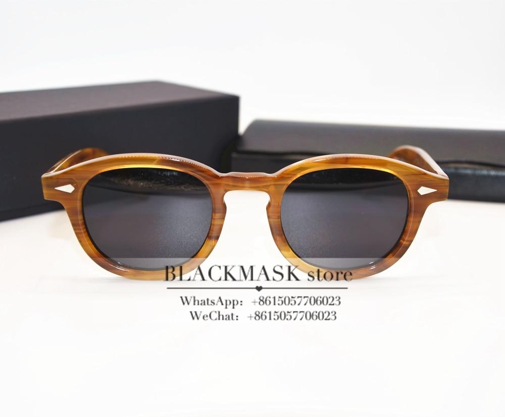 vintage johnny depp estilo retro polarizado óculos