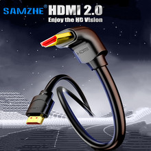 HDMI Cable 4K HDMI 2.0 Cable HDMI 90/270 Degree Angle Adapter for TV PS4 Splitter Video Audio 90 Degree HDMI Cable