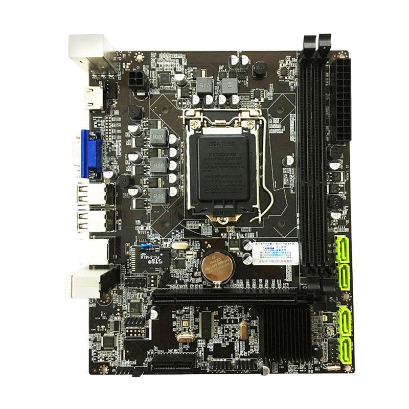 Placa base H55 LGA1156 DDR3 16 gramos Dual Sata 2,0 4xUSB 2,0 pci-express compatible con I3 I5 I7 CPU para ordenador Procesador Intel Core i7-860 (8M Cache, 2,80 GHz) LGA1156 CPU de escritorio