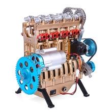 Цельнометаллический автомобиль мини сборный встроенный четырехцилиндровый двигатель модель игрушки для взрослых