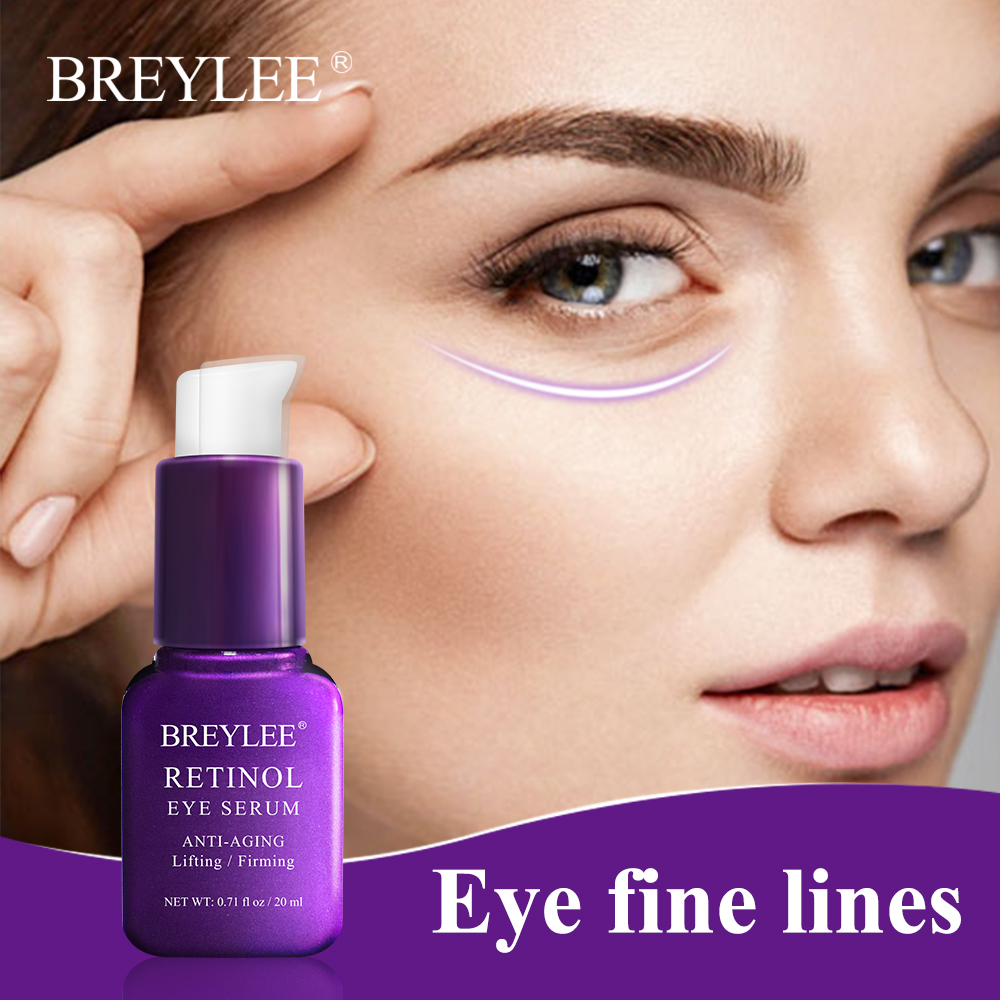 BREYLEE Retinol Eye Serum Anti-Aging Ageless Instantly Reduce Eyes Fine Lines Eye Care Eye Mask Eye Cream Moisturizing Firming