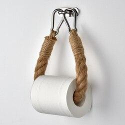 Vintage Handdoek Opknoping Touw Toiletrolhouder Home Hotel Badkamer Decoratie Benodigdheden