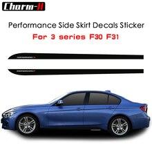 цена на Side Skirt Stripe Sticker Body Decal M Performance For BMW 3 Series F30 F31 F34 F35 320i 318d 316d 320d 328i 330d E60 E61