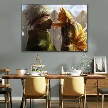 Affiche murale du film classique Naruto Kakashi, peinture sur toile, animé, populaire japonais, Vintage, décoration de salon, de maison