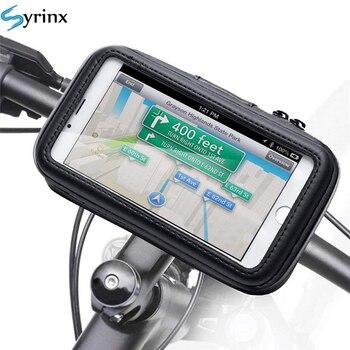 Vélo moto Support de téléphone étui étanche vélo téléphone sac pour iPhone Xs 11 Samsung s8 s9 Support Mobile Support Scooter couverture 2