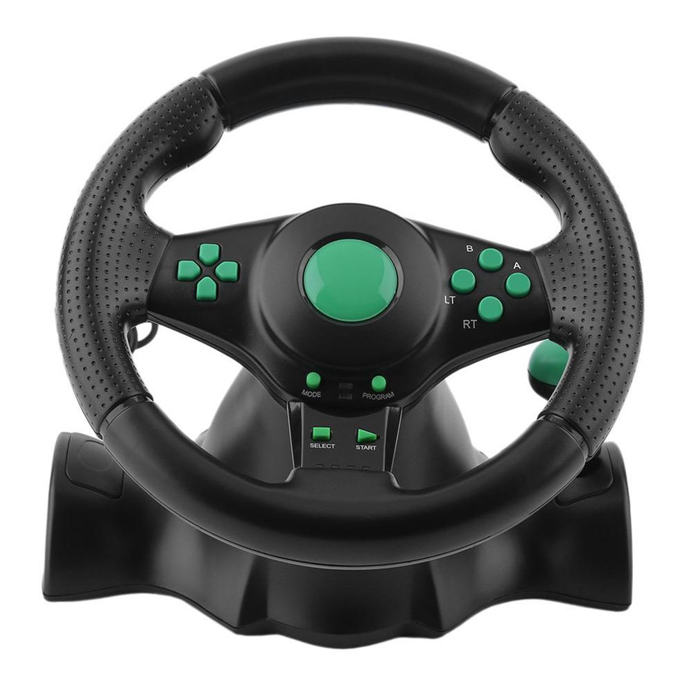 180 Degrees Racing Steering Wheel For PS3 Game Steering Wheel PC Vibration Joysticks Remote Controller Wheels Drive For PC image
