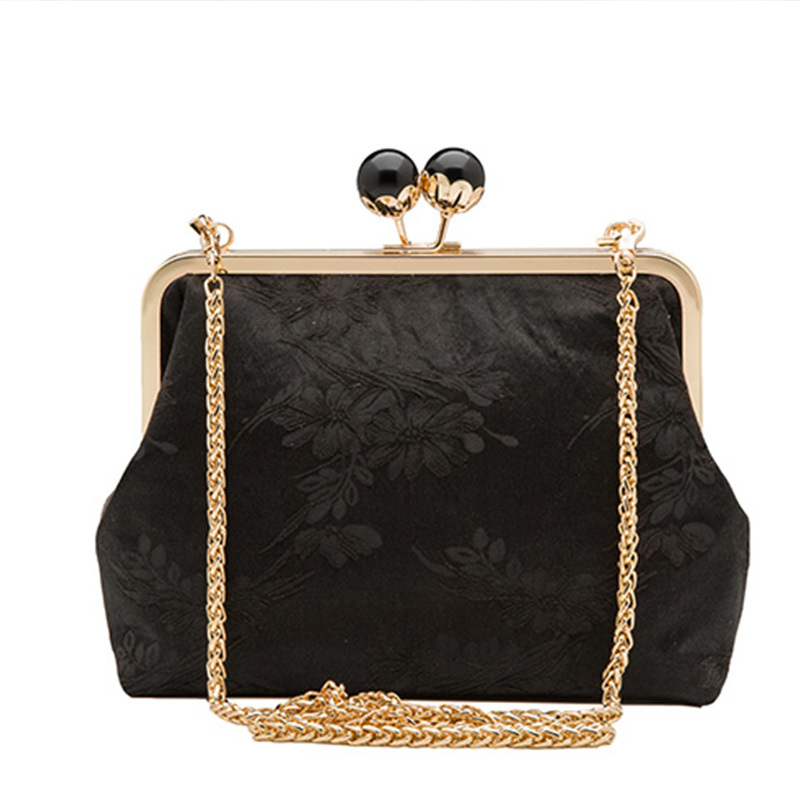 22cm Pearl Big Purse Clasp Gold Color Metal Purse Frame Handle Bag Hanger Strap Ornament Lightweight Organizers Purse Handle