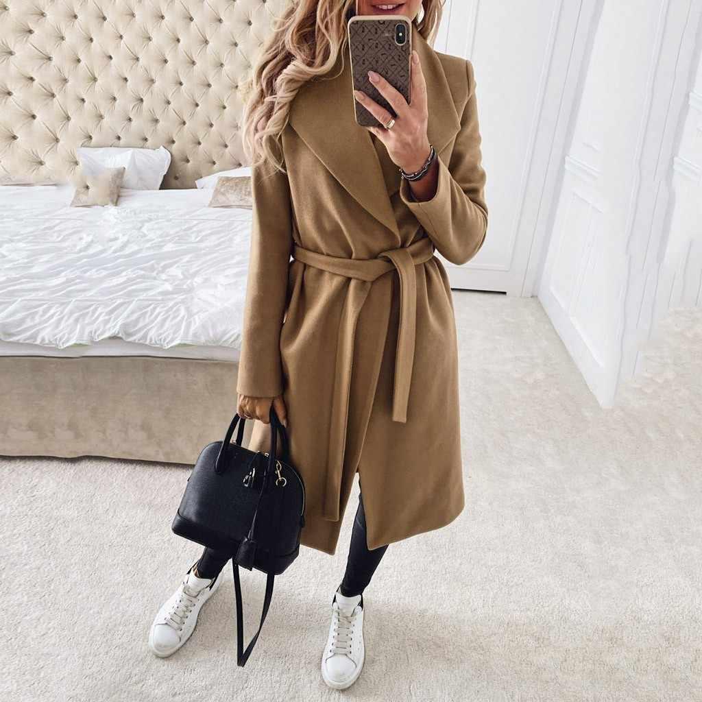 Chaqueta mujer cappotto di inverno delle donne Manica Lunga Peloso Anteriore Aperto Giacca Corta Del Vestito Solido Lungo Cappotto abrigos mujer invierno 2019