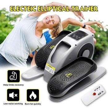 Mini bicicleta eléctrica, entrenador elíptico pasivas para piernas/cinta de ejercicio de brazos, mini máquina de caminar delgada, equipo de fitness