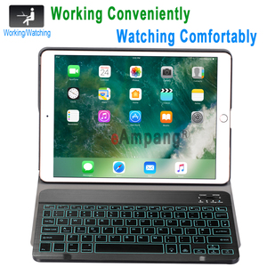 Image 2 - Backlit Keyboard Case For Apple iPad Air 2019 10.5 3 3rd Generation A2152 A2153 A2154 A2123 Pro 10.5 A1701 A1709 Pencil Film
