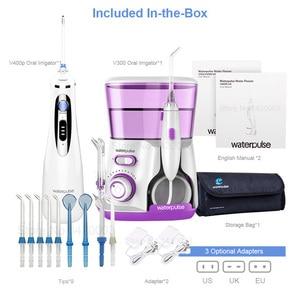 Image 5 - Waterpulse V300 + V400Plus su Flosser ile Set 9 İpuçları elektrikli Dental Oral irigatör pensesinde hijyeni ağız bakımı aile kullanımı için