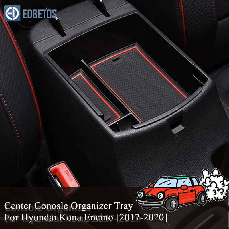 YEE PIN Centre Console Organizer Tray Armrest Tray for Kona 2018 2019 Secondary Storage Box Insert Glove Compartment Car Accessories