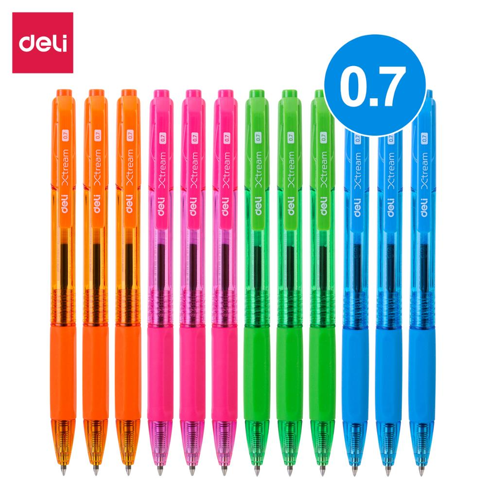 DELI Ball Point Pen Mini tip Color Ballpoint Pen 0.7mm smooth writing low viscosity ink School Stationery EQ02930(China)