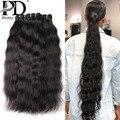 30 дюймов Необработанные индийские виргинские волосы переплетения пряди 1 3 4 Дело Remy волосы натуральные прямые двойные нарисованные уток оп...
