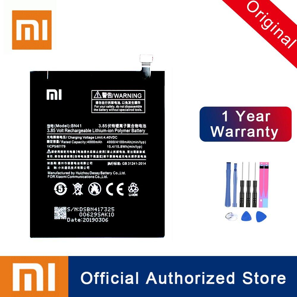 Original Xiao mi BN41 Für Xiao mi Red mi Hinweis 4/Hinweis 4X MTK Helio X20 Wiederaufladbare Telefon Batteria akku Kostenloser Versand