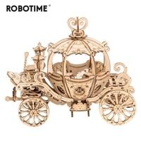 Robotime Новое поступление 182 шт. DIY подвижная 3D деревянная карета-тыква Модель Строительный набор игрушка подарок для детей друг TG302