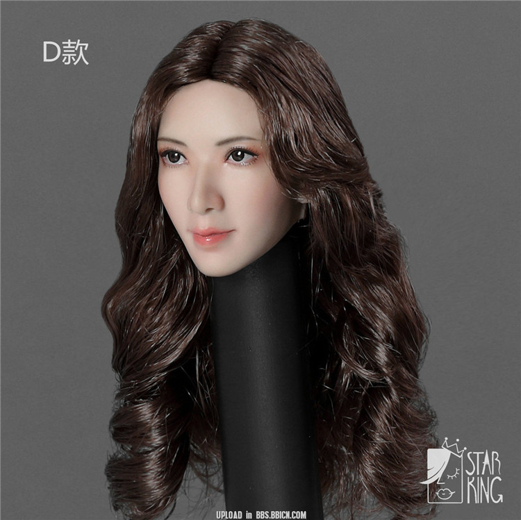 """1/6 Scale Beauty Pale Skin Woman Head SK001 1/6 Scale Asian Beauty Lin Chi-ling Head Carving Fit 12"""" Pale Figure Body"""