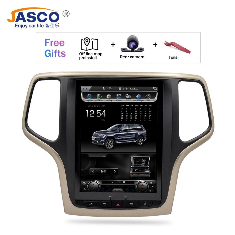 10,4 pantalla Vertical Android 7,1 coche DVD GPS Glonass navegación reproductor de Radio para Jeep Grand cheroki 2013-2016 RAM 2GB 32G
