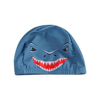 Kreskówka czepek dziecięcy elastyczna główka z nadrukiem Shark usta kapelusz sporty wodne tanie i dobre opinie Emmababy CN (pochodzenie) COTTON Wyposażone Boys baby Zwierząt 0-3 miesięcy 4-6 miesięcy Cartoon Children
