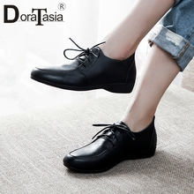 DORATASIA Brand Fashion Lady Black Flats 2020 Spring Autumn Round Toe Consise