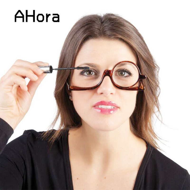 Ahora Lady's Make Up Magnifying Reading Glasses For Women Portable Clear Lens Spectacles Presbyopic Glasses Eyewear Unisex