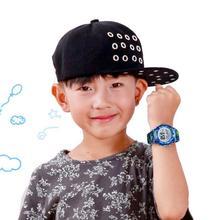 Gorąca sprzedaż kolorowe Luminous wodoodporny zegarek dla dzieci LED sportowe cyfrowe zegarek na silikonowym pasku dzieci luźny zegarek prezent tanie tanio bez wodoodporności Moda casual Cyfrowy RUBBER Sprzączka CN (pochodzenie) bez opakowania Children s Watches ROUND Wholesale dropshipping