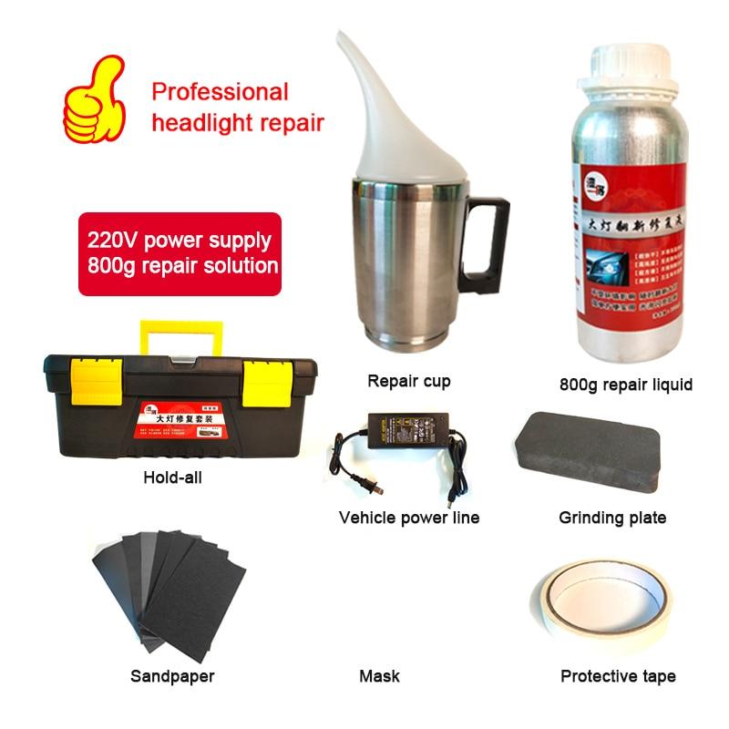 2020 Headlight Polishing Vapor Kit Car Headlight Restoration Repair Cleaning 800ML Car Headlight Repair Fluid Restorer