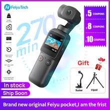 Feiyu Cámara de bolsillo de 6 ejes, estabilizador de cámara de mano, imagen híbrida HD, 4K, APP de control WIFI
