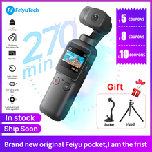 InstocK feiyu جيب 6 محور كاميرا ذات محورين يده كاميرا استقرار الهجين صورة HD 4K APP واي فاي التحكم