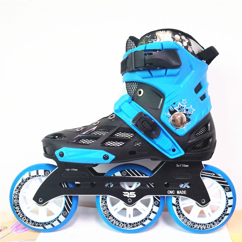 3 Wheels 110mm R5 3X110mm Inline Skates Base Patines Roller Skating Batman Sneaker Adults Speed Race Tyres ILQ9 For Powerslide