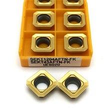 Hartmetall einsätze SEKT1204 UE6020 Fräsen einfügen drehen werkzeug SEKT 1204 metall drehmaschine werkzeuge CNC Schneiden werkzeug Wende werkzeuge