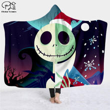 The nightmare before christmas jack skull hooded blanket adult