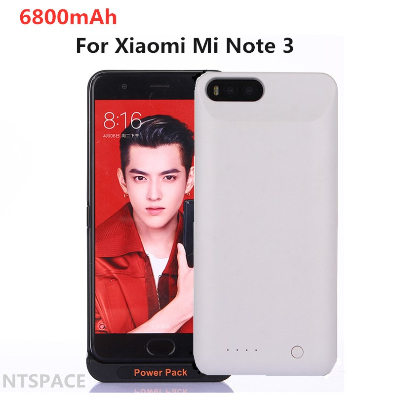 External 6800mAh Portable Power bank Cover <font><b>Battery</b></font> Charger <font><b>Cases</b></font> For <font><b>Xiaomi</b></font> <font><b>Mi</b></font> <font><b>Note</b></font> <font><b>3</b></font> Power PackBackup Power Bank <font><b>Case</b></font> image