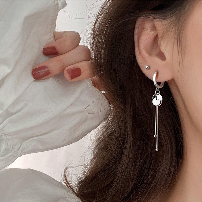 XIYANIKE 925 en argent Sterling nouveauté rond marque gland longues boucles d'oreilles tempérament Sexy mode INS bijoux faits à la main 5