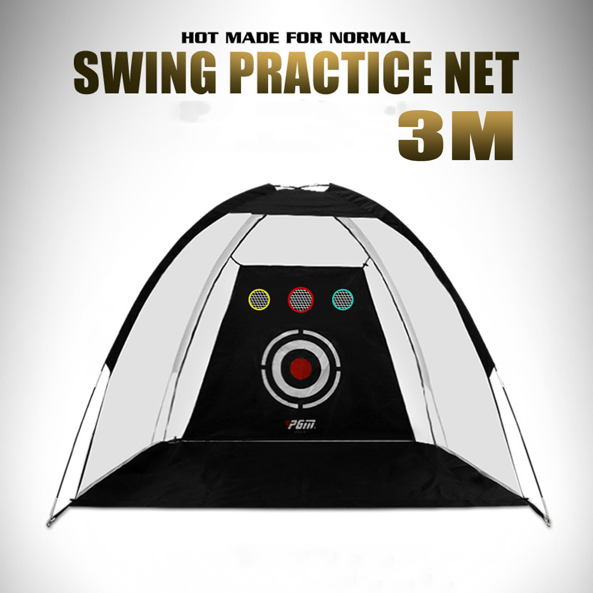 Golf Training Net Foldable Hitting Target Tent Cage Practice Driving Soccer Durable Polyester Oxford Cloth  2 X 1.4m/2 X3m