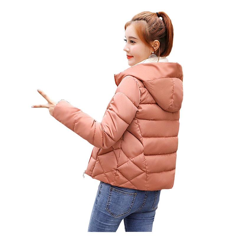 Short Hooded Student Winter   Down     Coat   Jacket Warm Women Casaco Feminino Abrigos Mujer Invierno 2018 Wadded Parkas Outwear 07