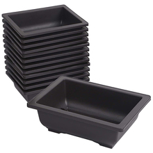 15 PCS Rectangular Plastic Bonsai Training Pot, Flower and Meat Pot Container for Garden, Home Decoration 8 Inches