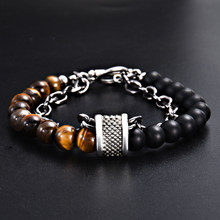 Minimalist Tiger Eyes Beads Bracelet Men Charm Natural Stone Braslet for Man Handmade Casual Jewelry Pulseras(China)