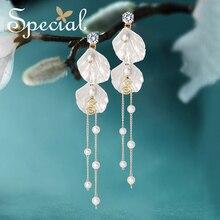 цены Special Brand Fashion Natural Pearls Drop Earrings Ear Hook 925 Sterling-Silver-Jewelry Earrings Gifts for Women S1889E