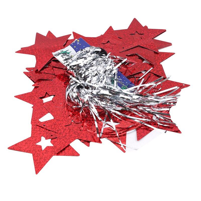 Воздушные шары ленты для свадьбы День рождения лента-лазер DIY вечерние украшения упаковка пятиконечная Звезда блестки воздушные шары