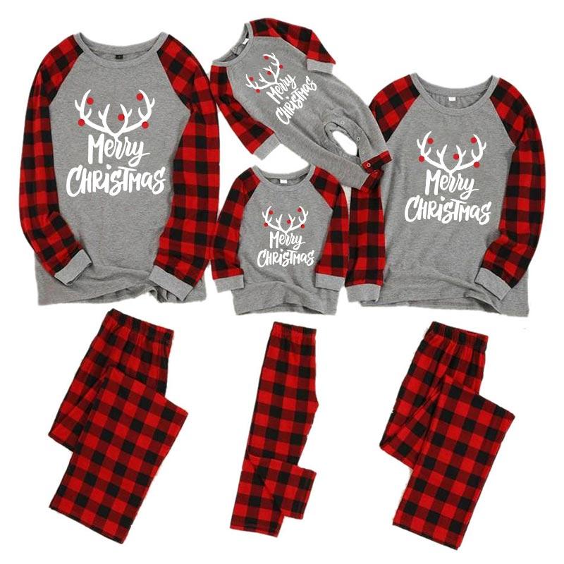 Рождественские пижамы для всей семьи, комплект для мамы, дочки, папы и сына, комбинезон, одежда для сна одинаковые комплекты для папы, мамы и меня одежда для мамы и ребенка - Цвет: color 1