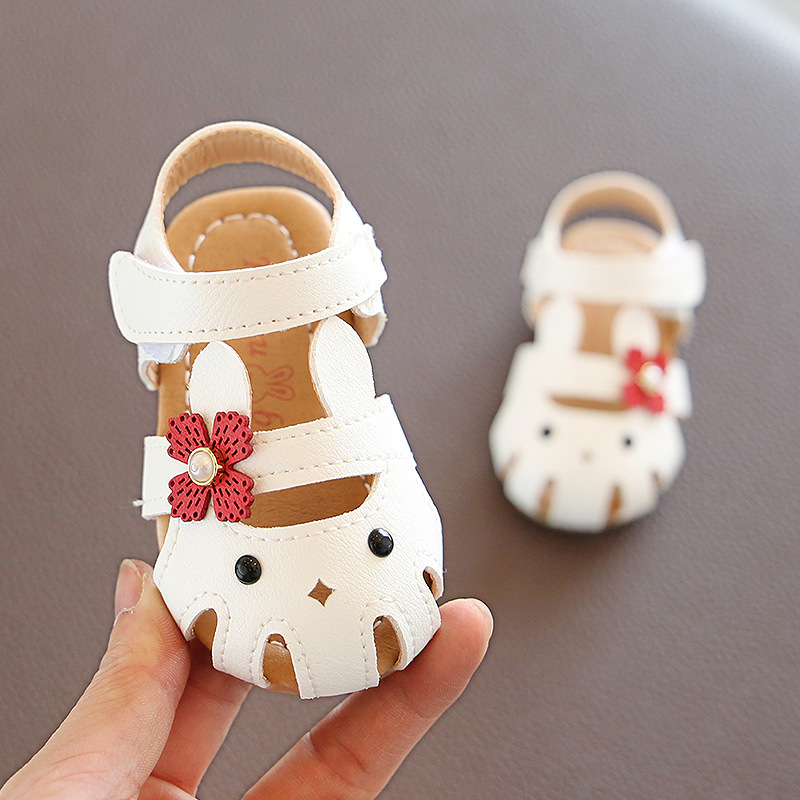 Girls Infant Sandals Shoes Baby Soft Bottom Shoes Summer Baby Girl Sandals 0-year Child Sandals Kids Princess Shoes Non-slip