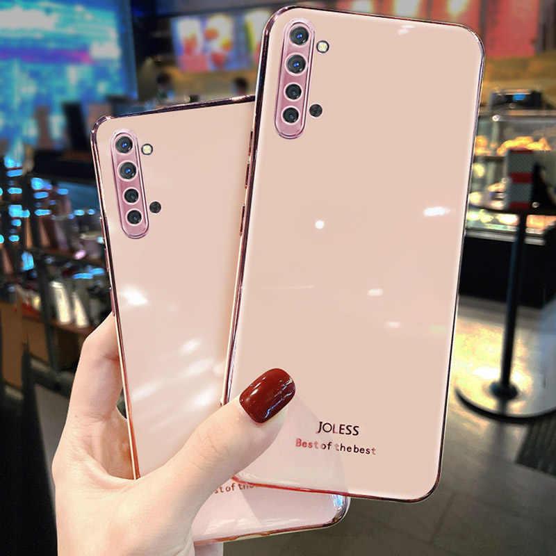 電話ケースoppo realme C3 ケースシリコンメッキバンパー検索oppoためX2 プロA9 A5 2020 リノ 3 2 iqoo 3 R17 R15 K5 F9 カバー