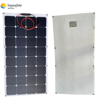 white ETFE flexible solar panel 100W with sun power solar cell 22% charging efficiency