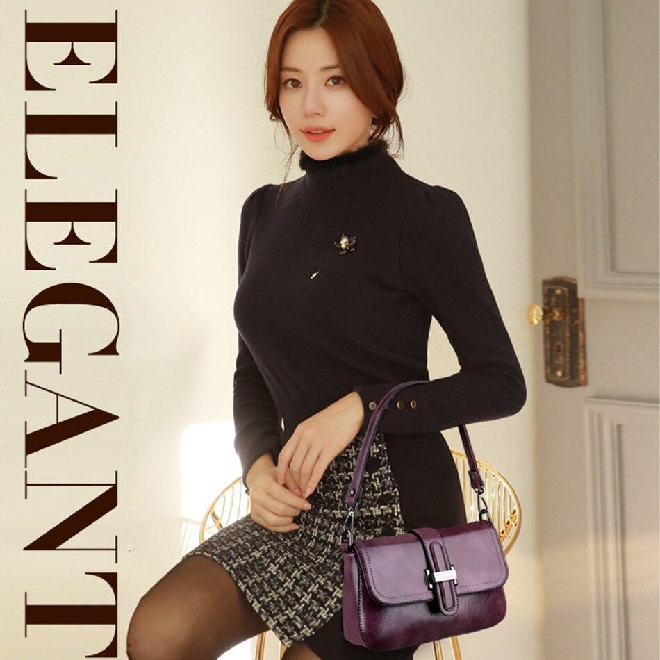 Image 3 - Vintage 3 in 1 Crossbody Bags For Women Messenger Bags 2019 Leather Luxury Handbags Women Bags Designer Sac A Main FemmeShoulder Bags   -