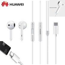 Original HUAWEI CM33 หูฟัง USB Type C หูฟังหูฟังชุดหูฟังไมโครโฟน HUAWEI Mate 10 20 Pro 20 X ฿ P 10 20 30 หมายเหตุ 10