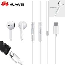 오리지널 화웨이 cm33 이어폰 usb 타입 c 이어폰 헤드셋 마이크 볼륨 화웨이 메이트 10 20 pro 20 x rs p 10 20 30 참고 10