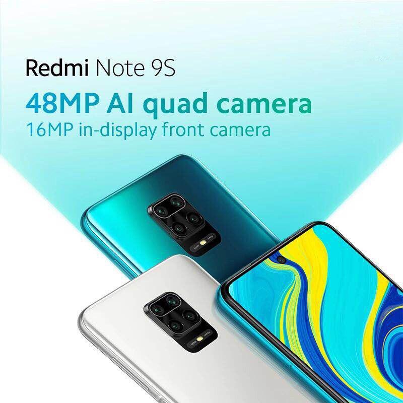 Global Version Xiaomi Redmi Note 9S 9 S 6GB 128GB Smartphone Snapdragon 720G Octa Core 48MP AI Quad Camera 6.67