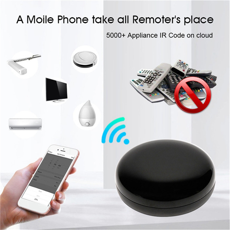Tuya Mini WiFi Smart IR Remote 10m Controller with Alexa Google Assistant, For TV Air Conditioning Appliances Voice Control tuya 4